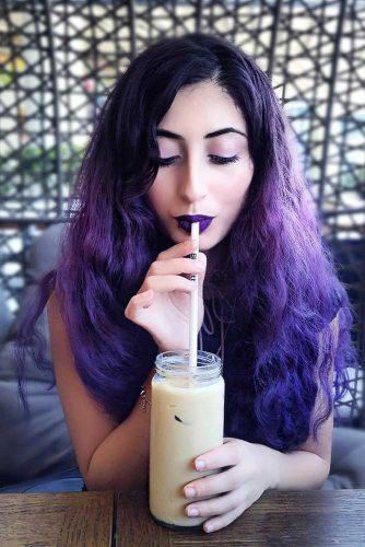 Long Purple Hair Looks Picture 2