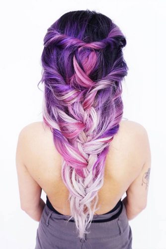 Magical Down-Do #ombrehair #coloredhair