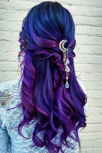 Wonderful Hairstyles with Purple Hair Picture 2