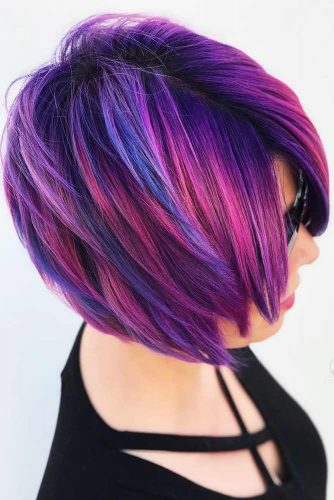Nightfall Layers #shorthair #coloredhair