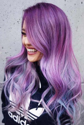 Long Purple Hair Looks Picture 5