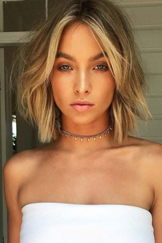 Short Shaggy Bob Hairstyle For Romantic Look #shaggyhair