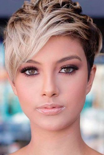 Blonde Ombre Pixie Haircut #ombrehair #pixiehaircut