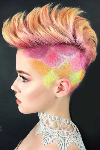 Bright Mohawk Hairstyle #coloredhair #mohawk