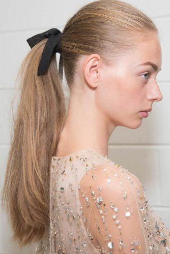 Simple Hairstyle with Bow