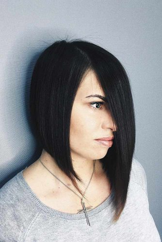 Asymmetrical Inverted Bob Cut #invertedbob #straighthair