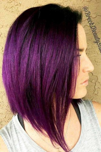 Violet Burgundy Hair Shade Picture 3