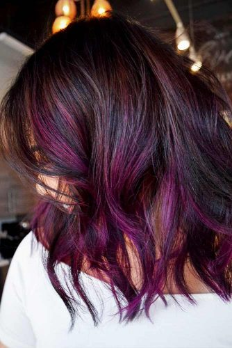 Plum Ombre Hair Styles Picture 2