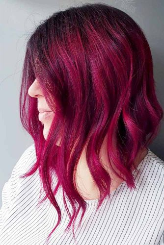 Bright Berry Burgundy Hair Shade Picture 1