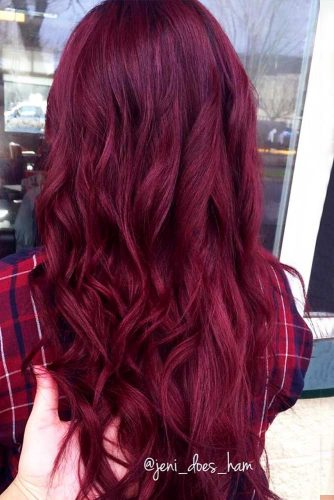 Saturated Burgundy Hair Color Picture 1