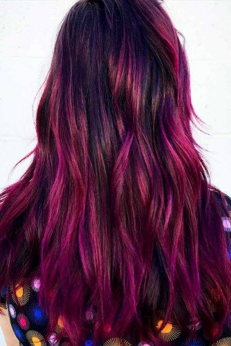 Plum Ombre Hair Styles Picture 1