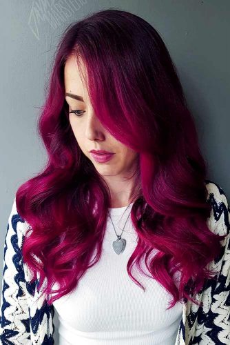 Bright Berry Burgundy Hair Shade Picture 3
