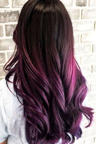 Violet Burgundy Hair Shade Picture 1
