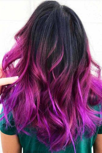 Plum Ombre Hair Styles Picture 3