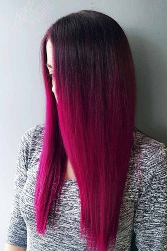 Bright Berry Burgundy Hair Shade Picture 2