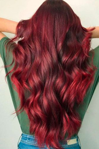 Mulled Wine Hair Shade For Long Hair #longhair #wavyhair