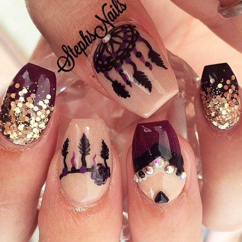 Amazing Dream Catcher Nail Arts Picture 3