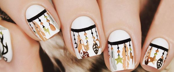 21 Ideas with Dream Catcher Nail Art