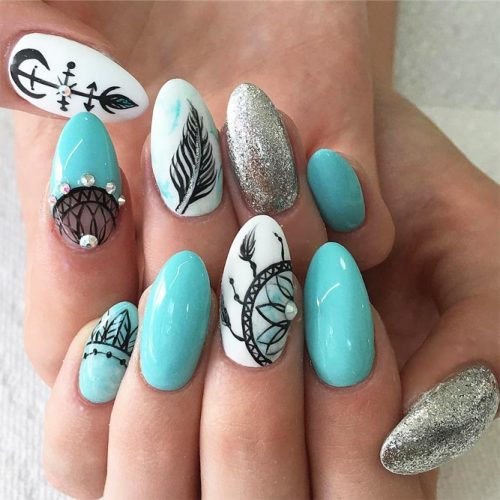 Amazing Dream Catcher Nail Arts Picture 6