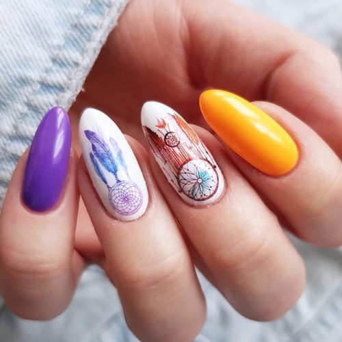 Cute Dream Catcher Nail Designs picture 3