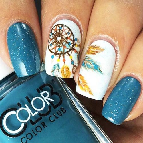 Creative Designs for Nails with Dream Catchers Picture 4