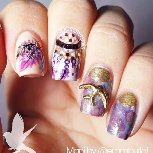 Creative Designs for Nails with Dream Catchers Picture 5