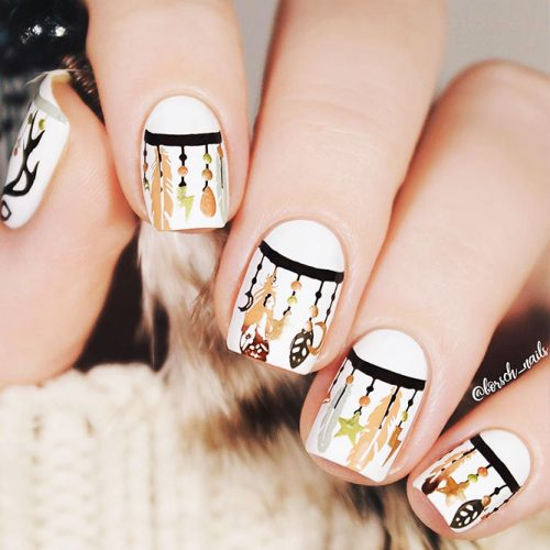 Creative Designs for Nails with Dream Catchers Picture 1