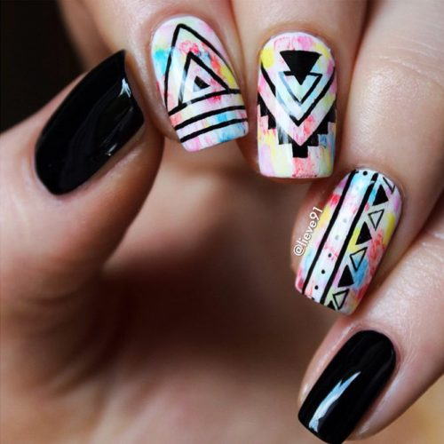 Geometrical Nails Ideas Picture 1