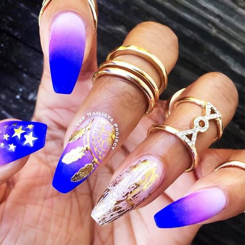 Gel Nails with Foil Nail Designs Picture 1