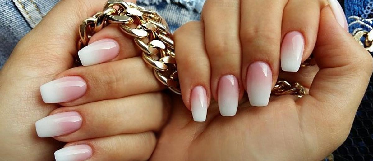 Pink And White Gel Coffin Nails Best Nail 2018