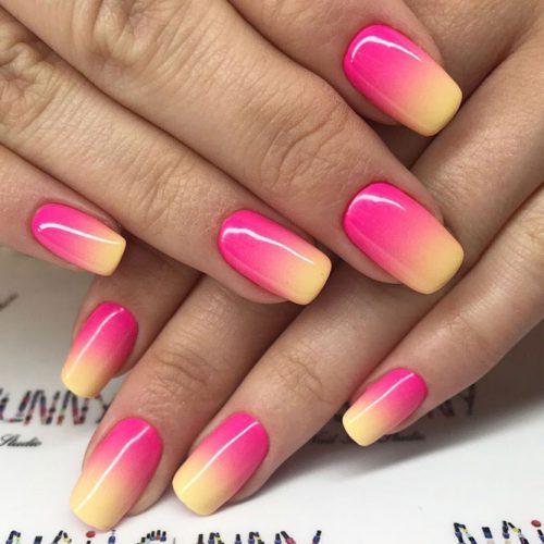 Hot Neon Ombre Nail Art
