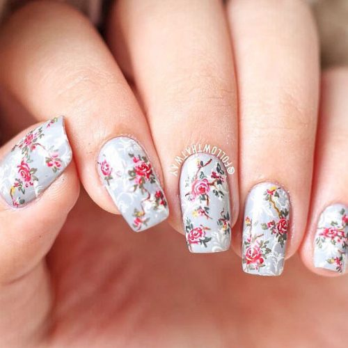 Beautiful Floral Nail Ideas Picture 2
