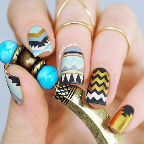 Geometrical Nails Ideas Picture 2