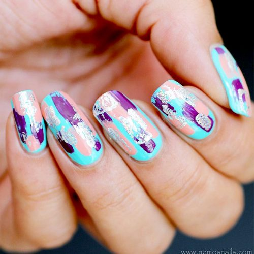 Gel Nails with Foil Nail Designs Picture 2
