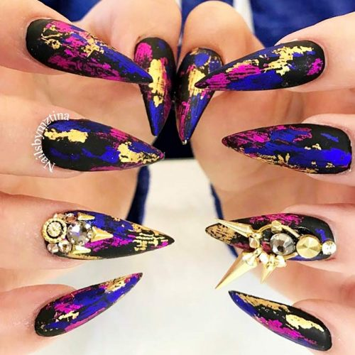 Unusual Bright Colored Designs with Gold Foil Picture 3
