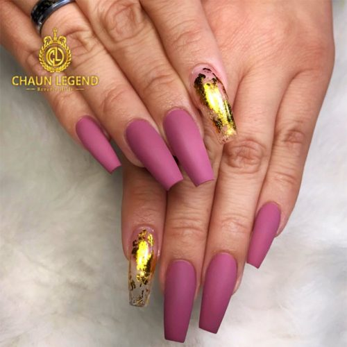 Transparent Mani with Gold Foil Picture 4