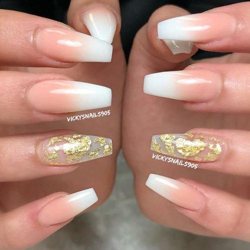 French Fade Nail Art #frenchnails #ombrenails