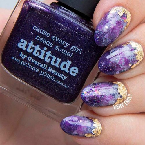 Amazing Galaxy Nail Art #galaxynails #prettynaildesign