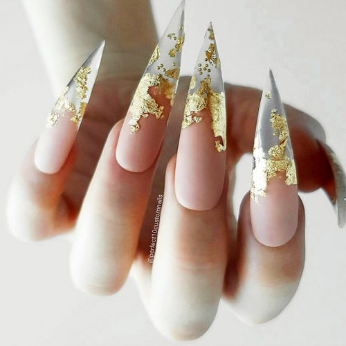 Transparent Mani with Gold Foil Picture 3