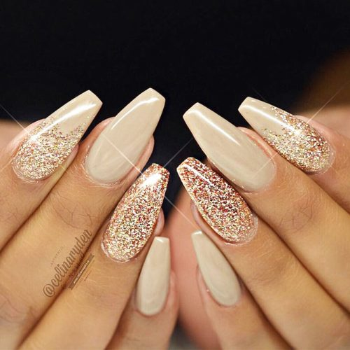 Sparkly Nail Art Designs With Gold Glitter picture 3