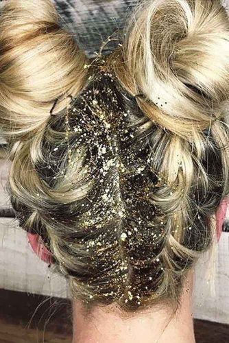 Gold Glitter Hairstyle Ideas picture 3