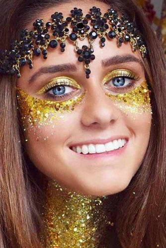 FestIval Makeup Looks With Glitter picture 3