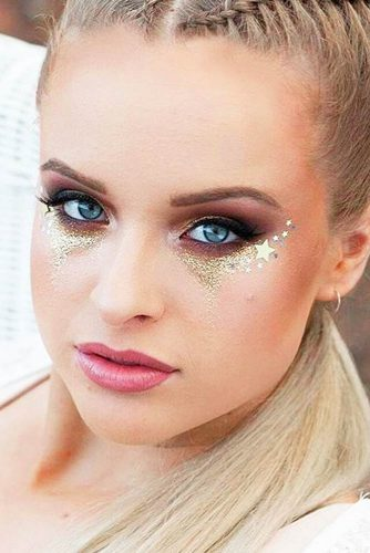 FestIval Makeup Looks With Glitter picture 6