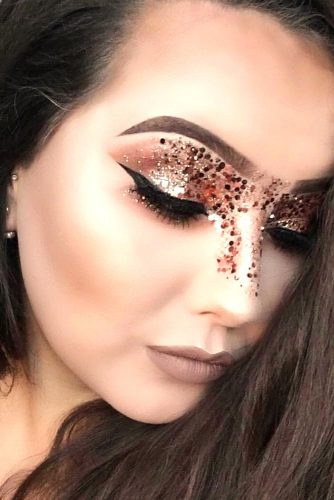 FestIval Makeup Looks With Glitter picture 4