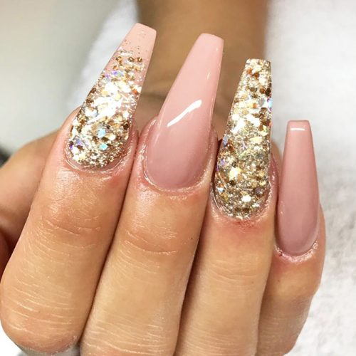 Sparkly Nail Art Designs With Gold Glitter picture 4