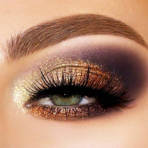 Gold And Gray Smokey Eyes Idea #smokey