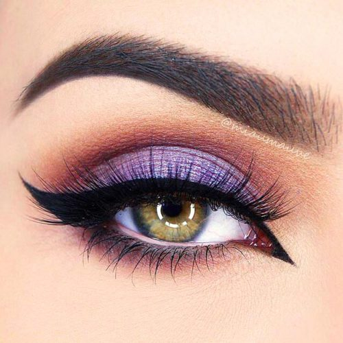 Makeup In The Lilac Color picture 1