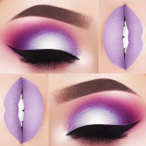 Makeup In The Lilac Color picture 2