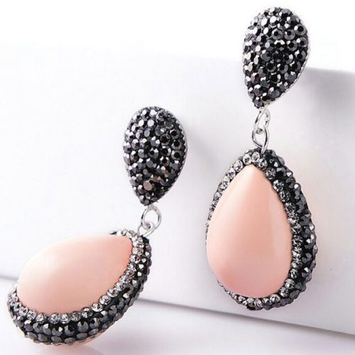 Teardrop Peach Earrings Design #statementearrings