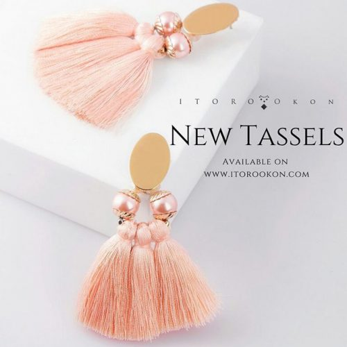 Handmade Errings In Peach Color ##handmade #earrings
